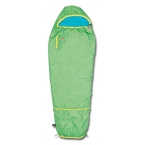 Grüezi Bag 05756 Mitwachsender Mumienschlafsack für Kinder | Ultraleicht, Atmungsaktiv, Pflegeleicht | Grün