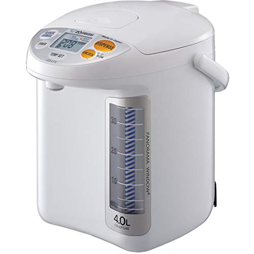 Zojirushi Micom Water Boiler and Warmer, 169 oz/5.0 L, White