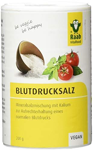Raab Vitalfood LowNat Blutdruck Salz, vegan, Mineralsalzmischung mit Kalium zur Aufrechterhaltung von einem normalen Blutdruck, 1er Pack (1 x 200 g Dose)