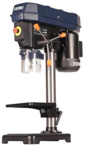 FERM Trapano a colonna da banco 350W, 13 mm Velocit regolabile. Banco da lavoro 160 x 160mm inclinabile fino a 45