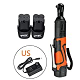 BAD PANDA 3/8' Cordless Electric Ratchet Wrench 18V 60N.m Power Tool Set, With 2 Lithium-Ion Battery and 1 Charger Kit