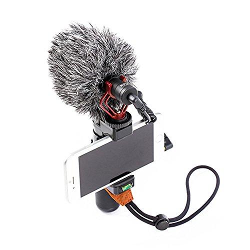 BOYA Stabilizzatore portatile Smartphone Video Rig per impugnatura Vlogging con microfono cardioide Compatibile con iPhone8 7 6 Plus Sumsang, per Videomaker Filmmaking Mobile Videoregistratore YouTube