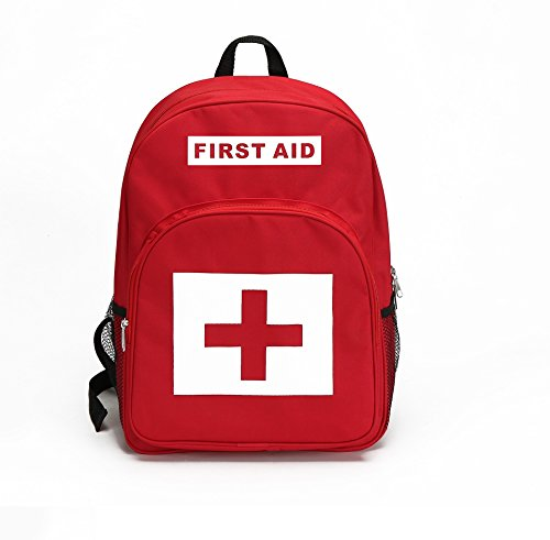 E-FAK Red Backpack for First Aid Kits Pack Emergency Treatment or Hiking, Backpacking, Camping, Travel, Car & Cycling. (RED #1, Medium)
