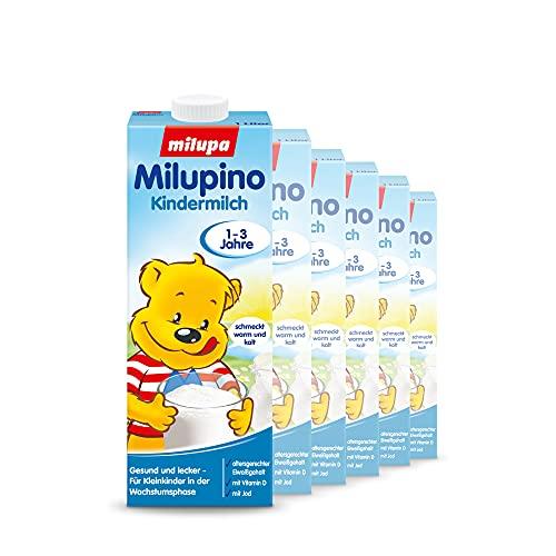 Milupa Milupino Kindermilch ab 1 Jahr, Milchnahrung trinkfertig (6 x 1 Liter)