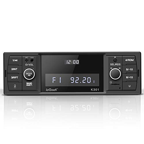 ieGeek Bluetooth Autoradio, RDS/MP3/FM/AM/SD/AUX/USB Funktion mit doppelt...