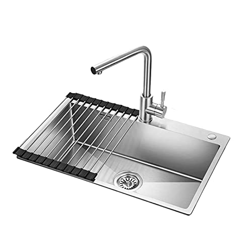 Kitchen Single Bowl Sink,Stainless Steel Manual Tank...