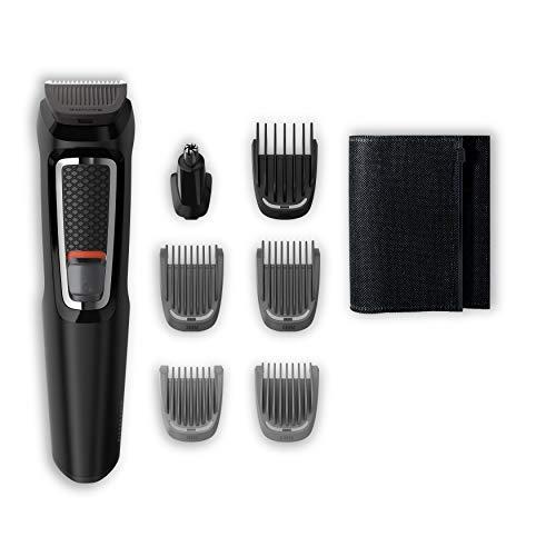 Philips Grooming Kit serie3000 MG3720/15 Tagliacapelli, Regolabarba uomo, Rifinitore Baffi/Naso/Orecchie, 7in1