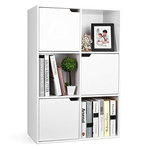 Homfa Libreria Armadio con 6 cubi Mensola in Legno, Scaffale Cubo Porta Libri CD Pianti...
