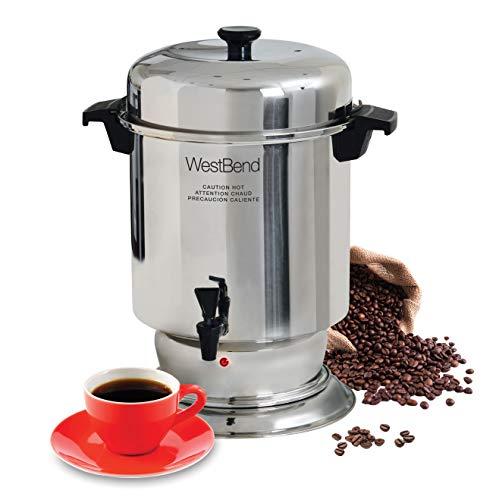 West Bend - Cafetera de 60 tazas, Coffeemaker, Plateado, 55-Cup, 1