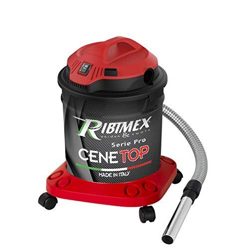 RIBIMEX PRCEN012, Aspirateur à Cendres Professionnel Cenetop 1200 W – 18 L avec Nettoyage Automatique