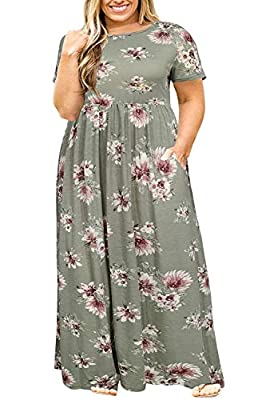 The drop down size is US Plus SIZE. The material is soft, stretchy and mid-weight,Can be easily dress up or dress down Features: Casual Style,Two Side Pockets,Round Neck,Floor Length,Elastic at Waist,Not lined,Plus Size Maxi Dresses Stretch,fitted,Lo...