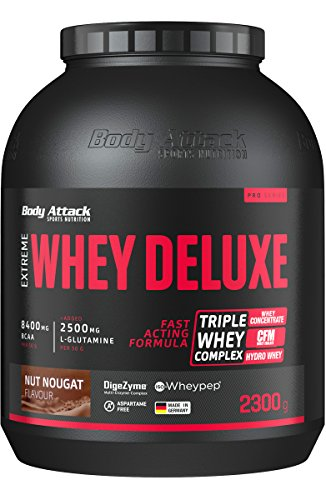 Body Attack Nut Nougat Cream 2300g Extreme Whey Deluxe by Body Attack