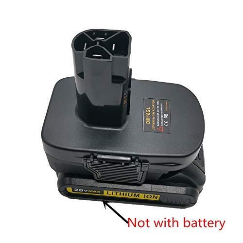 DM18GL Battery Adapter for Milwaukee 18V and for Dewalt 18V Lithium Battery Convert to for Craftsman 19.2 Volt Battery
