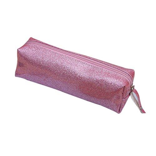 JUNGEN astuccio portapenne piccolo bambina Moda glitter Matita Portapenne Matita Storage Bag 20 * 6...
