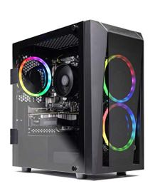 SkyTech Blaze II Gaming Computer PC Desktop – Ryzen 5 2600 6-Core 3.4 GHz, NVIDIA GeForce GTX 1660 6G, 500G SSD, 8GB DDR4, RGB, AC WiFi, Windows 10 Home 64-bit