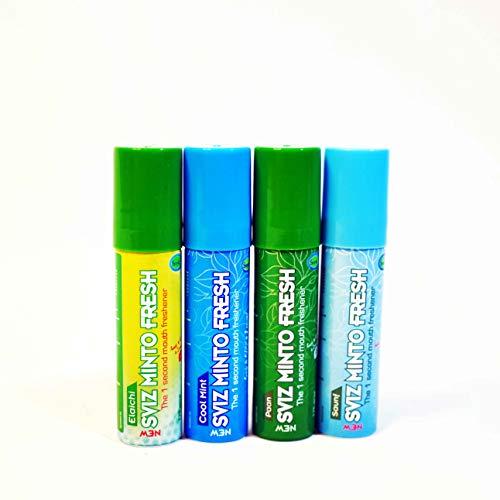 Smyle Sviz Minto Mouthfreshner Spray 15 gm- Pack of 4's (Saunf,Cool Mint,Paan,Elaichi) Spray