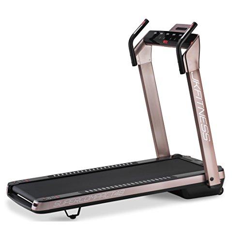 JK Fitness SUPERCOMPACT48, Tapis roulant, Unisex - Adulto, Rosa, 145 x 75 x 123 cm Aperto - 74 x 26...
