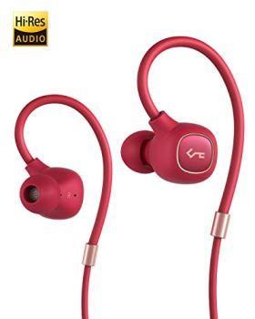 AUKEY Écouteurs Bluetooth, Oreillettes sans Fil Key Series B80 avec Bluetooth 5 Pilote Hybride, aptX, Faible Latence, Son Haute Fidélité, Étanchéité IPX6, Micro intégré et Autonomie de 8 Heures