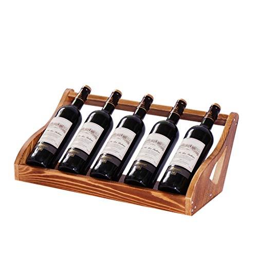 Porta bottiglie da vino Armadietto del vino Holder bagagli Tribuna creativi della famiglia bottiglia...