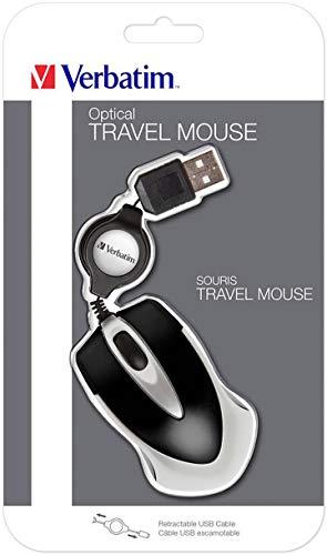 Verbatim Go Mini USB optische Travel Maus mit Kabeleinzug - schwarz