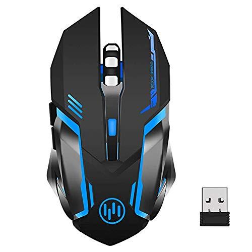ZOCONE Mouse Gaming Wireless, Mouse Wireless LED Mouse Senza Fili Gaming, Clic Silenzioso, Sleep...