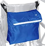 Pembrook Wheelchair Backpack Bag - Wheel Chair and Walker Accessories Side Storage Bags - Lightweight Pack for Mobility, Transport & Travel Portable Devices - Fits Scooter, Electric Wheelchairs & Etc