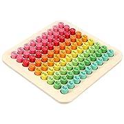Toyvian Montessori Pädagogisches Spielzeug Kinder 99 Multiplikationstabelle Mathematik Arithmetik Lehrmittel