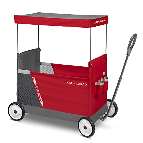 Radio Flyer Kid & Cargo with Canopy, Folding Wagon with 2 Versatile Seats, (Amazon Exclusive) (3965Z)