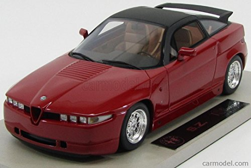アルファロメオ SZ ミニカー 1/18 TOPMARQUES - ALFA ROMEO - SZ ZAGATO COUPE 1989 RED