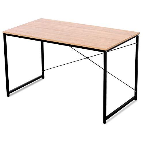 WOLTU TSB04hei Schreibtisch Computertisch Büromöbel PC Tisch Bürotisch Arbeitstisch aus Holz und Stahl, mit Ablage, ca,120x60x70 cm