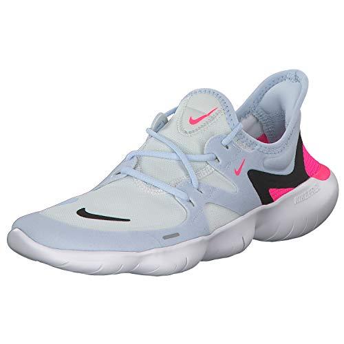 Nike Free RN 5.0 Women's Running Shoe White/Black-Half Blue-Hyper Pink 10.0