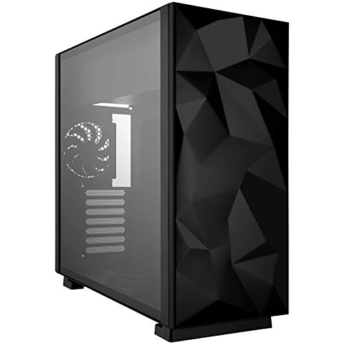 Rosewill ATX Mid Tower Gaming PC Computer Case with 2 x 120mm Fans (Supports up to 6), 240mm AIO Support, EATX Support, Top Mount PSU & HDD/SSD, Tempered Glass & Black Steel - Prism S-Black-LITE