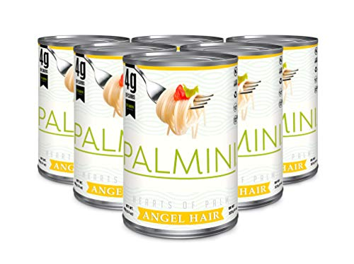 New Palmini Low Carb Angel Hair | 4g of Carbs | As Seen On Shark Tank | Gluten Free (6 Units Can)
