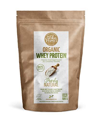 Organic Whey Protein - Purely Natural - 80% Proteína - Proteína de...
