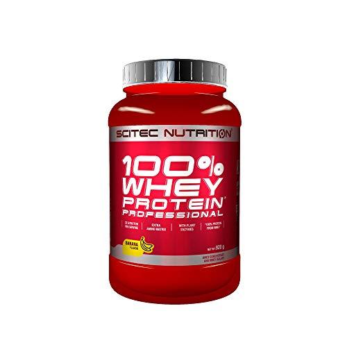 Scitec Nutrition 100% Whey Protein Professional mit extra zusätzlichen Aminosäuren und Verdauungsenzymen, 920 g, Banana