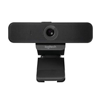 Logitech C925e Business Webcam, Appel Vidéo HD 1080p/30ips, Correction et Mise au Point Automatiques, Son Clair, Volet de Protection, Skype Business, WebEx, Lync, Cisco, PC/Mac/Portable/Macbook - Noir