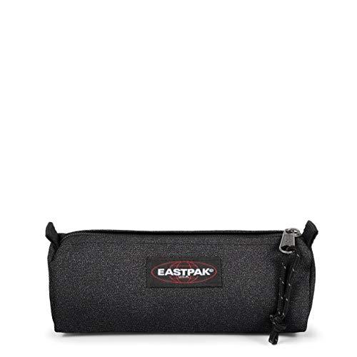 Eastpak Benchmark Single Astuccio, 21 cm, Tessuto glitterato, Nero (Spark Dark)