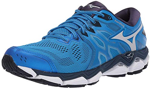 Mizuno Men's Wave Horizon 3 Running Shoe, Brilliant Blue-Cloud, 11.5 D US