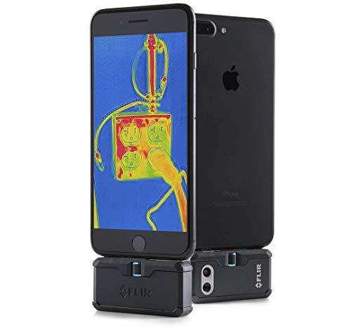 FLIR ONE PRO Modulo con telecamera per scansione termica per dispositivi iOS con connettore lightning, misura temperature fino a 400 °C (752 °F), tecnologia brevettata MSX, banda spettrale 8 – 14 µm