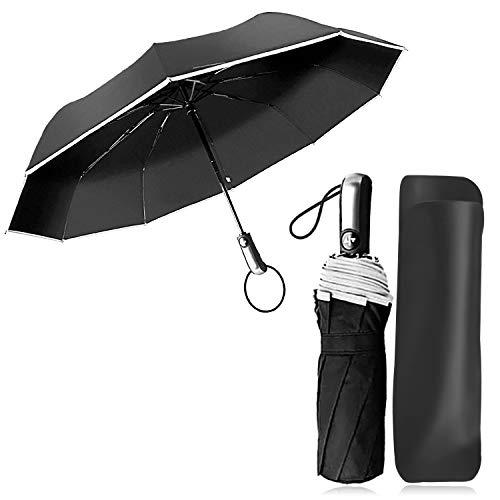 Paraguas Compacto y Resistente al Viento, Paraguas Plegable