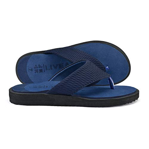 LivEasy Extra Soft Ortho Care Diabetic & Orthopedic Slippers / Doctor Slippers & Foortwear with Memory Foam - Men (Blue, numeric_9)