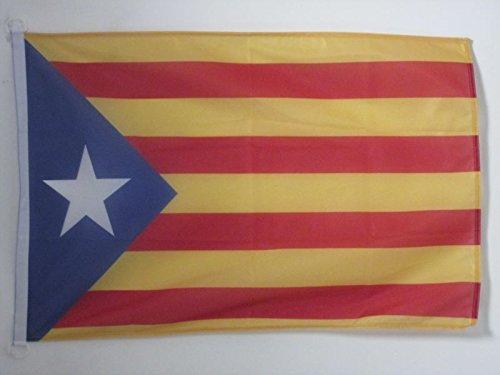 AZ FLAG Bandera de CATALUÑA ESTELADA BLAVA 90x60cm Uso Exterior - Bandera CATALANA INDEPENDENTISTA – Catalunya 60 x 90 cm Anillos