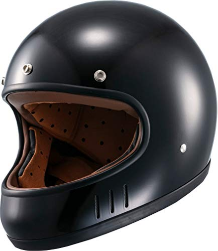 マルシン(MARUSHIN) バイクヘルメット ネオレトロ フルフェイス DRILL (ドリル) ブラック Mサイズ (57-58cm) MNF2 02002314