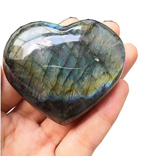 Loveliome Natural Labradorite Crystal, 2.2-2.5 Inch...