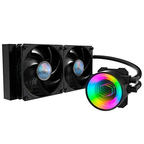 Cooler Master MasterLiquid ML240 Mirror ARGB CPU Dissipatore Liquido, Sistema Raffreddamento ad Acqua AIO, 2 x 120mm Ventole SickleFlow V2, Radiatore 240mm Potenziato, Compatibile Socket AMD e Intel