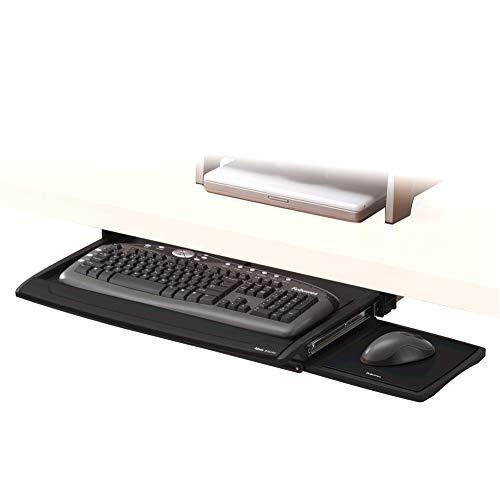 Fellowes Office Suites Deluxe Tastatur-Manager höhenverstellbar mit beweglicher Mausablage, schwarz