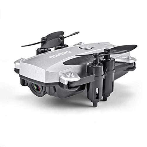 ZHCJH Drone Mini Selfie Camera HD 1080P RC, Quadcopter WiFi FPV Pieghevole Altitude Hold Elicottero modalit Senza Testa Giocattolo per Principianti, Argento 8 megapixel