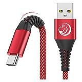 Câble USB C [2M,Lot de 2]-Chargeur Type C Cable 3A Charge Rapide Cordon Solides Nylon...