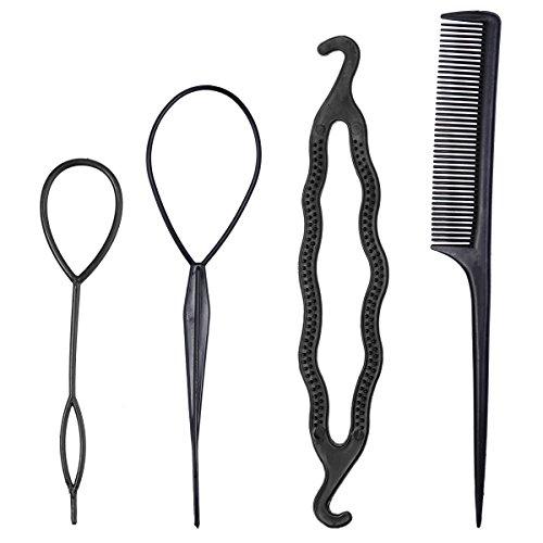 Frcolor Set di acconciature per capelli con pettine,Kit di attrezzi per modellare Hairdress Accessori per Capelli per donne ragazze