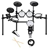 Donner DED-200 Electric Drum Set Kit Electronic with 5 Drums 3 Cymble, Electric Drum, Audio Line, Drum Stick